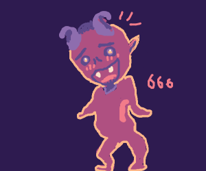 cute satan + 666