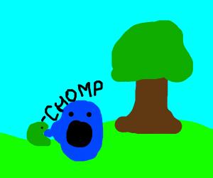 Small green predator