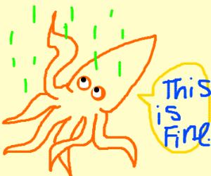 Squid is fine with acid rain