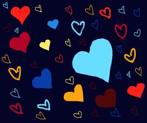 a whole buncha hearts