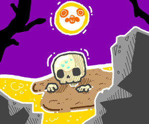 skeleton in quicksand