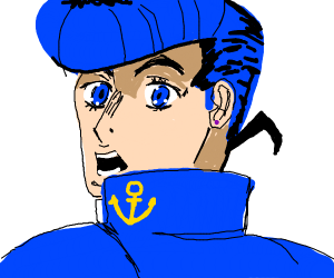 Confused Josuke Higashikata