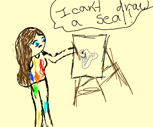 isecure artist thinks they can't draw a seal