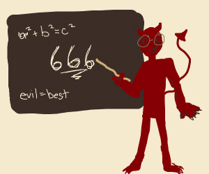Satan teaches you about math and 666