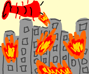 lobster destroying the city
