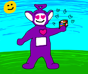 Tinky Winky REALLY LIKES Tetris