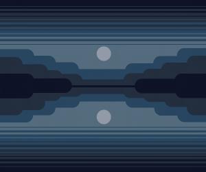 nightime with moon
