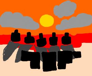 Fireball nation attacks the Earth