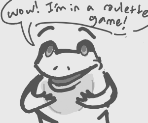 frog is proud to be in roulette game