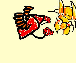 Homework turns into hornet fight