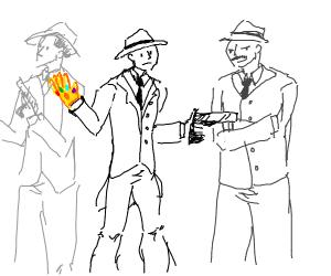 Mafia with Infinity Gauntlet and Gun