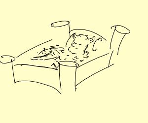 invisible shrek humps bed
