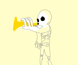 a spoopy dooty skeleton