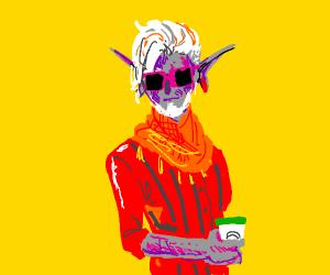 Purple Elf Hipster