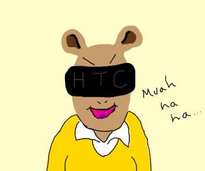 Arthur As a villain with VR headset