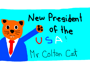 The new president is a cat
