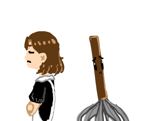 Maid does not like mops