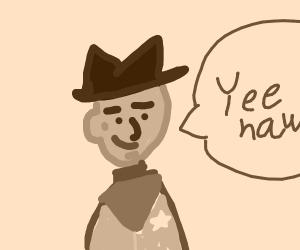 a cowboy drawception