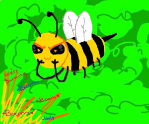 very mischievous bee
