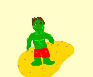 Hulk on a giant potato