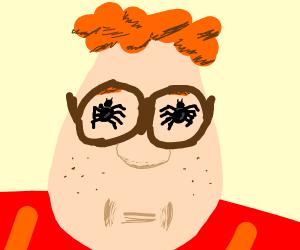 Carl Wheezer has spiders in his eyes