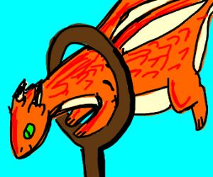Getting a dragon to jump through a hoop