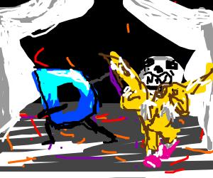 Drawception d and banana sans dance
