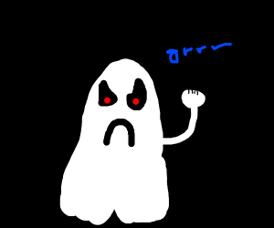 An angry ghost