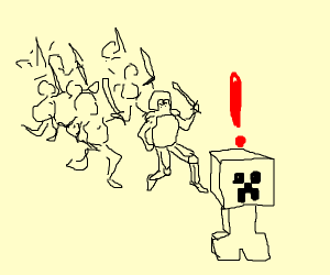 war against Minecraft creeper