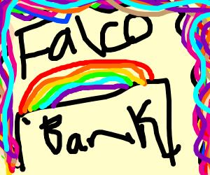 Falco robbing a bank