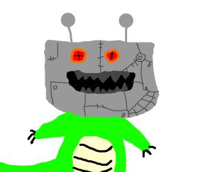 robotic monster head