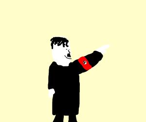 happy nazi man