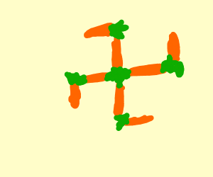 The Swastika made out of Carrots??