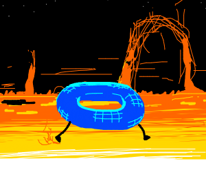 Torus walking on the sun