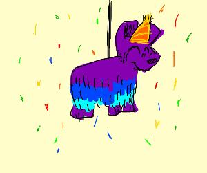 Pinata had a birthday