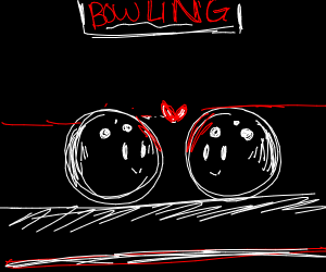 Two bowling balls fall in love
