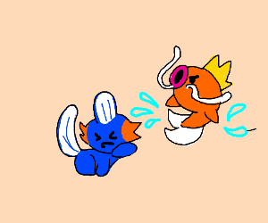 Magikarp attacks Mudkip