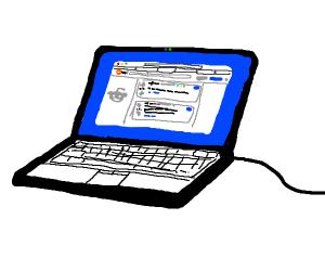 Laptop with Reddit