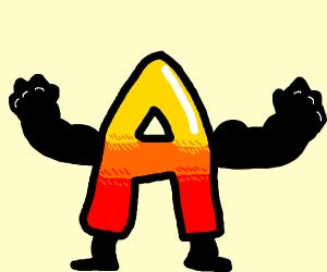 flexing letter a