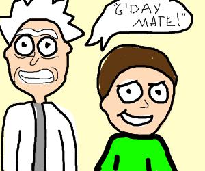 Rick and Morty go to Australia
