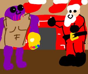 Thanos and Santa wish you merry christmas