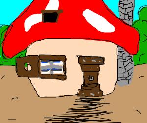 A mushroom house from Smurfs