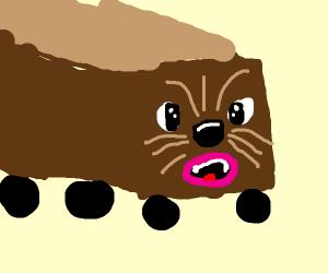 Chewbacca as a train