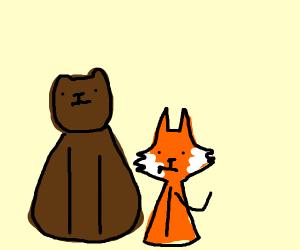 Bear and a Fox