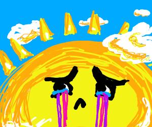 the sun weeps ultraviolet radiation