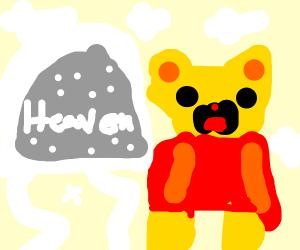 Winnie The Pooh at the Door of Heaven