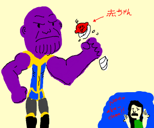 Skinny Thanos Snaps a Red Baby