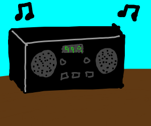 Stereo playing music
