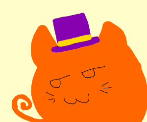 CAT WITH ONE FINE ASS TOP HAT