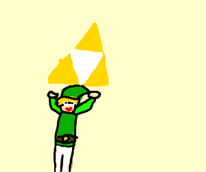 Hey link, there's the triforce.